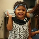 Eliana Villanueva, 3 years old, RMA, wearing her new Cochlear Americas Baha 4 processor!
