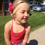 Ava Katuszonek, 3 years old, RMA, West Virginia, USA, wearing her new Oticon Medical Ponto Plus processor.